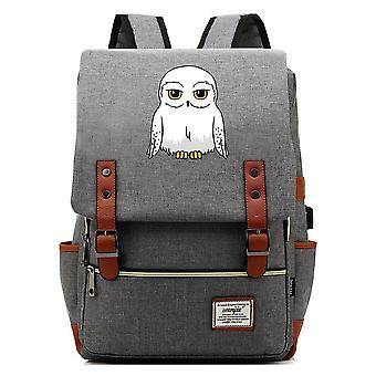 Harry Potter pöllö teinit koululaukku USB vapaa-ajan reppu