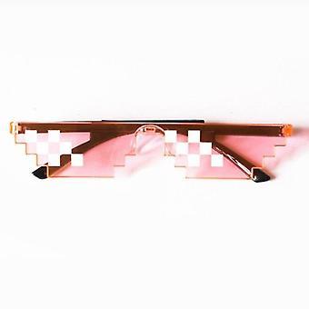 Pixelated Sunglasses Men's Women's Clothing Brand Thug Life Party Glasses