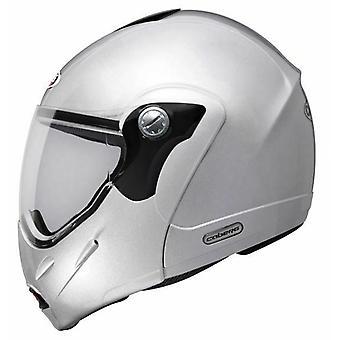 Caberg Rhyno Junior Helmet Gloss Silver Integrated Sun Visor ACU Approved