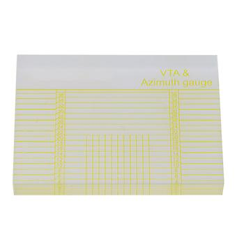 Vinyl Record Player mérése Phono Tonearm VTA Azimut vonalzó sárga