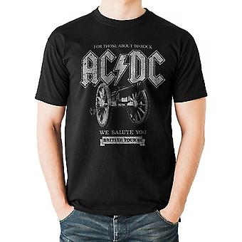 AC/DC Unisex Adults Canon Tour 82 Design T-paita