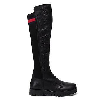 Tommy jeans bandera calcetín tommy jeans botas altas mujeres negro