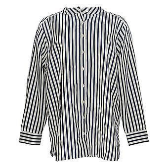 Linea Por Louis Dell'Olio Women's Top Plus Striped Back Box Azul A347479