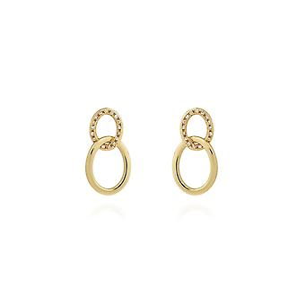 Joma Jewellery Statement Earrings Gold Pave Links Earrings 4411