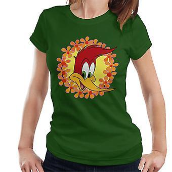 Woody Woodpecker Floral Border Women's T-Shirt