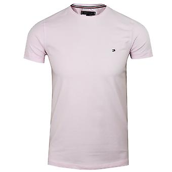 Tommy hilfiger men's light pink stretch t-shirt