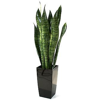 Kunstig sanseveria 70 cm grøn i gryden