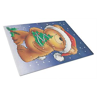 Teddy Bear dei tesori di Caroline e tagliere in vetro albero di Natale, grande, multicolore