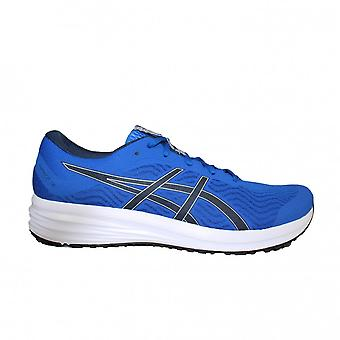 Asics Patriot 12 Blue/Midnight Mesh Mens Lace Up Running Trainers