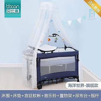 Yhdessä iso sänky taittuva monitoiminen kannettava vastasyntynyt vauvansänky