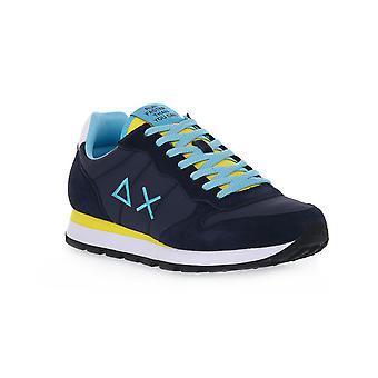 Sun68 0723 tom solid nylon navy blue sneakers fashion