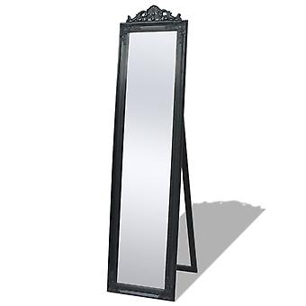 Free-standing Mirror Baroque Style 160x40 Cm Black