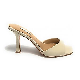 Guess Sandalo Seala Tc 90 Leather Cream Shoes Ds21gu49 Fl6sealea19