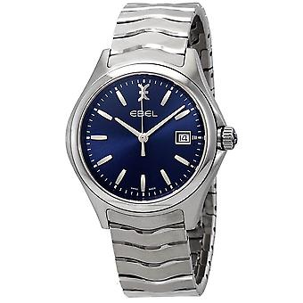 Ebel Wave Blue Dial Stainless Steel Men's Watch 1216238
