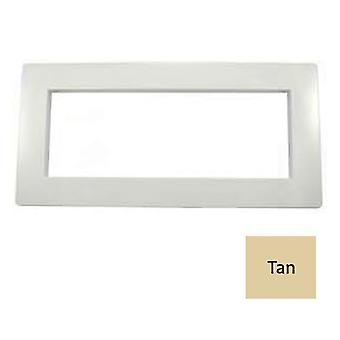 Custom Molded 25541-039-020 Wide Mouth Vinyl Pool Face Plate Cover - Tan