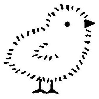 Easter Chick Wood Mounted Stamp
