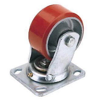 Draper 65523 100mm Dia. Swivel Plate Fixing Heavy Duty Polyurethane Wheel