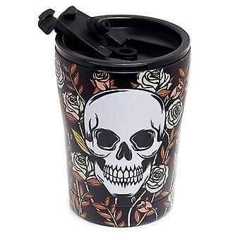 Puckator Skulls & Roses Stainless Steel Drinks Cup