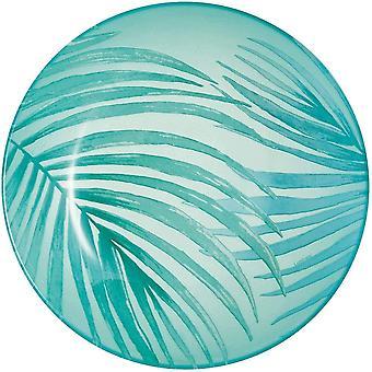 Wokex Suppenteller Crazifolia 20 cm 1 St, blau grün