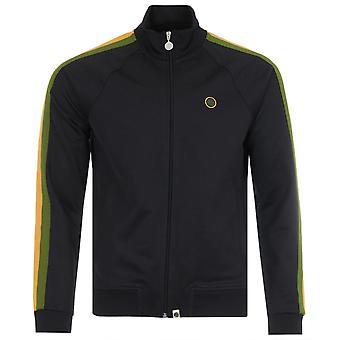 Pretty Green Island Tilby Track Zip Sweatshirt - Black