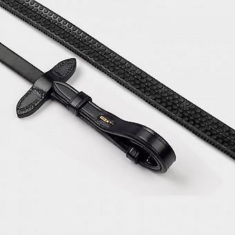 New Whitaker Ready-To-Ride Rubber Reins Black