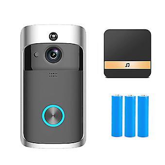 פעמון דלת חכם מצלמה דירות פעמון הדלת עבור טלפון בבית מצלמות אבטחה WiFi אלחוטי שיחה אינטרקום וידאו-עין