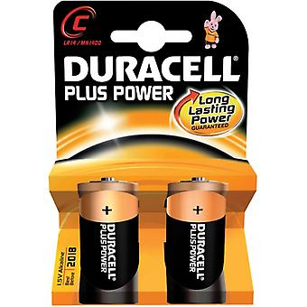 Duracell Plus Power C Size (2 Pack)
