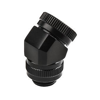 Phanteks 16mm Hårdrör Roterande Montering 45 G1/4 - Svart