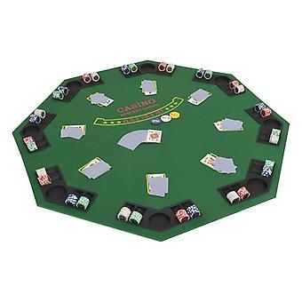 Poker Tabletop für 8 Spieler 2-Foldable Green