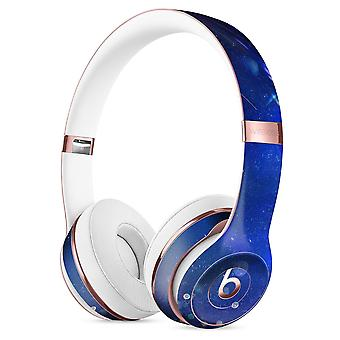Deep Blue Unfocused Scratches Full-body Skin Kit For The Beats By Dre