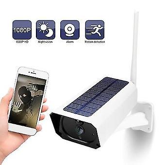 DC08 WIFI Solar Camera 1080P draadloze minitor plug-in gratis IP67 Night Vision Real Time Voice