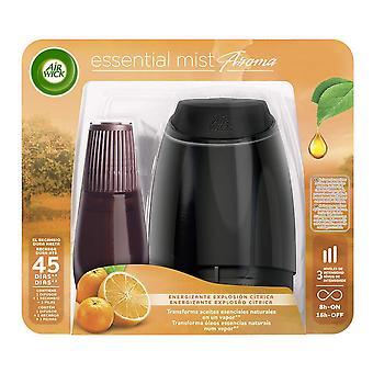 Elektrisk luftfräsare + Påfyllning Essentiell dimma Air Wick (20 ml)