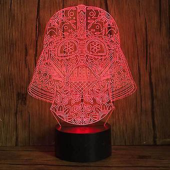 حرب النجوم دارث فيدر 3d أدى ليلة ضوء الأطفال مصباح طاولة غرفة النوم