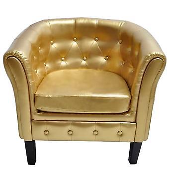 vidaXL Nojatuoli Kultainen Leatherette