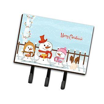 Caroline'S Treasures Merry Christmas Carolers Papillon Red White Leash Or Key Holder Bb2409Th68, Triple, Multicolor
