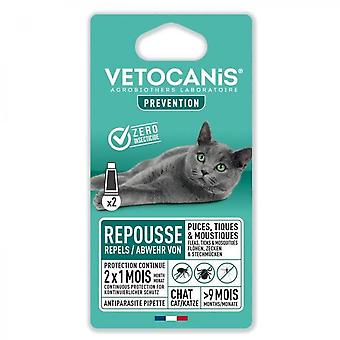 Vetocanis 2 Anti-flea And Anti-tick Pipettes - For Cat - 2x 1 Month Protection