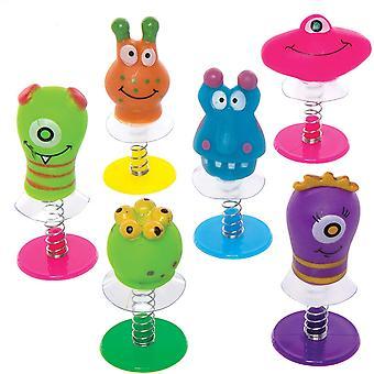 Springende Monster-Wackelköpfe - Spielzeug für Kinder als Mitgebsel und Preis beim Kindergeburtstag