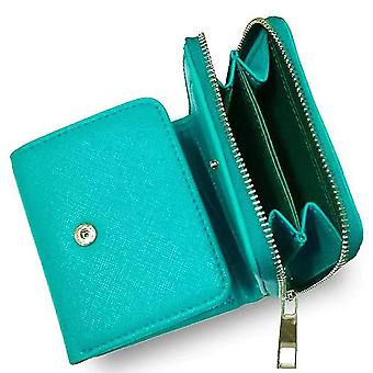 Leather ladies wallet short multi-card position first layer cowhide(Color-3)
