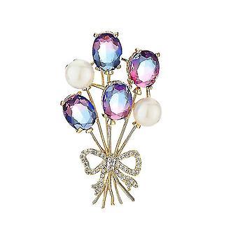 Elegáns női bross színes növények fűző sál klip ékszerek bross pin