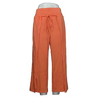Modern Soul Damen Hose Reg Cropped Krawatte Front Orange 690092