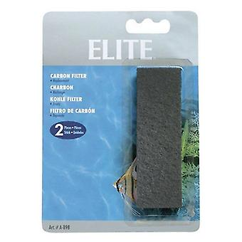 Elite Sponge Filter Replacement Carbon - 2 count
