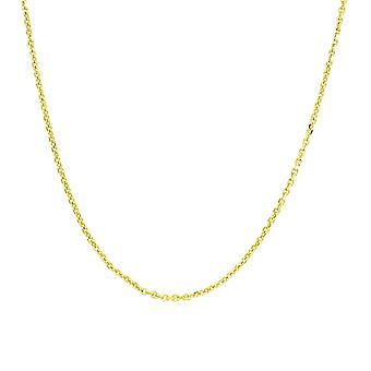 14k Yellow Gold Adjustable Cable Chain 0.9mm