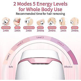 Electrolysis devices ipl pulsed light epilator facial body underarm bikini professional permanent hair removal level 5