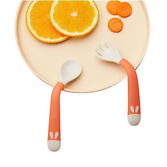 Baby Utensils Spoon Fork Set Easy Grip Heat-resistant Bendable Bpa Free