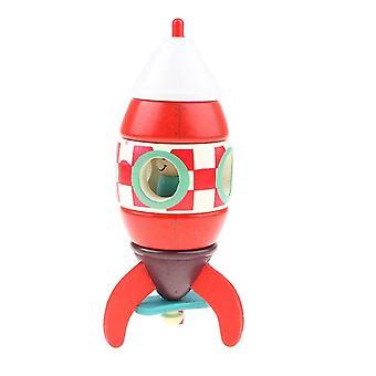 Madeira Montada Avião Magnético Modelo Brinquedos Educacionais Infantis