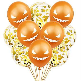10pcs Halloween Demon Latex Balloons, Halloween Party Supplies, Party Decoration Balloon