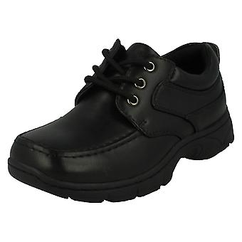 Boys Cool For School Black Lace Up Shoes
