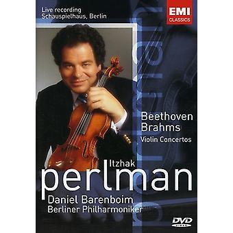 Itzhak Perlman - Brahms/Beethoven: Violin Cto. [DVD] USA import
