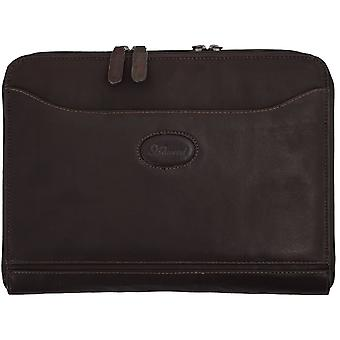 Ashwood Mayfair A4 Double Zip Tablet Case In Colombian Leather
