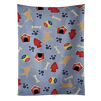 Yellow Labrador Retriever Dog House Collection Kitchen Towel